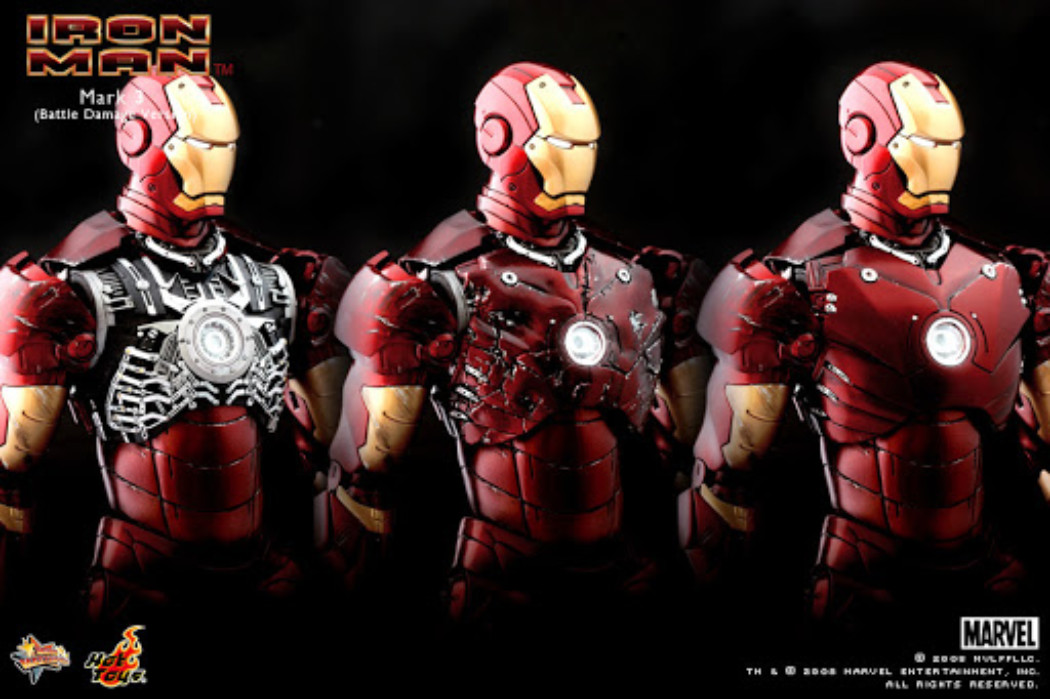Battle Damaged Iron Man Mark 3