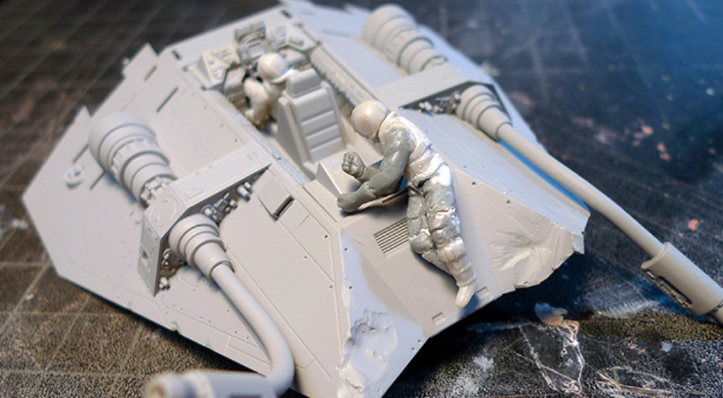 Fine Molds 1/48th Star Wars Snowspeeder Project Part 2