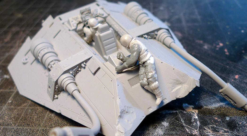 Fine Molds 1/48th Star Wars Snowspeeder Project Part 2