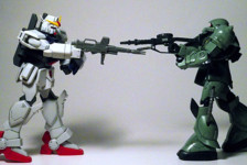 My First Gunpla: RX-79(G) VS MS-06J