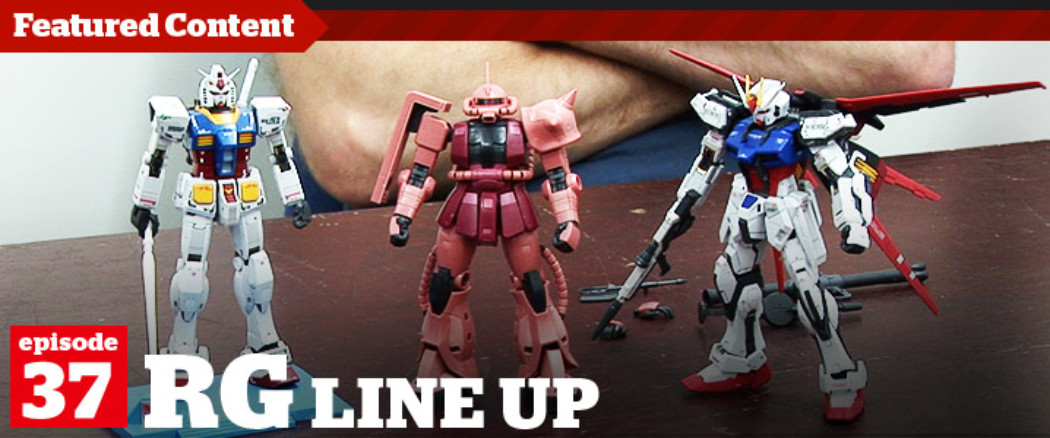 Gunpla TV – Episode 37 – A Look at the Real Grade Line