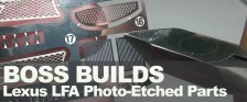 Boss Builds – Lexus LFA Part 4 – How To Apply Photo-Etched Parts