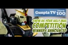 Gunpla TV – Episode 100 – Ugly Mug Winners – Nu Gundam Ka Review & Funnel Fix – Aventador Gundam!