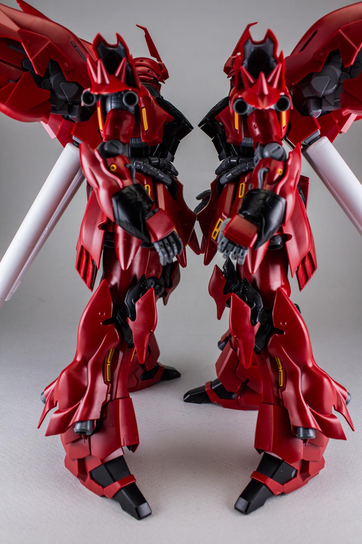 Pictures Of Sazabi Vs Sinanju Gundam Rx 93 V Nu Ver Ka Master Grade 1100 Daban Model Gunpla Tv Episode 110 Mg Ova Or A