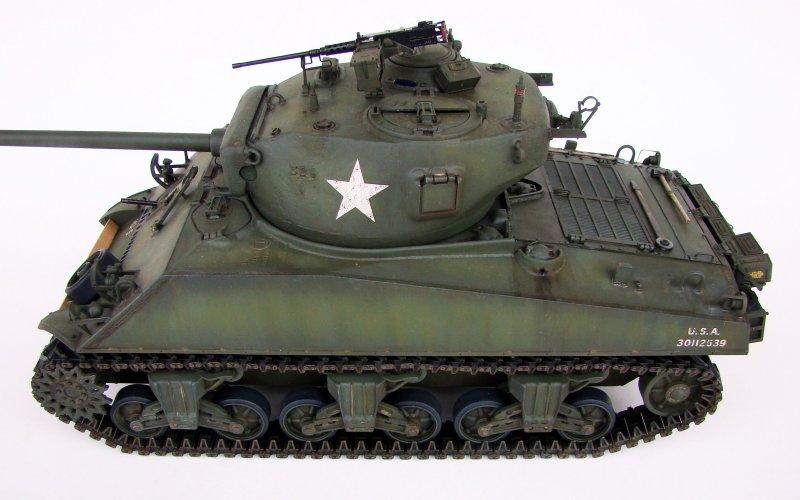 1/16 Aoshima RC Tank: US M4A3 76mm Sherman (T23 turret ...