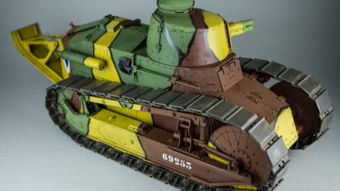 French Light Tank Renault FT Char Canon Girod Turret by Takom-5