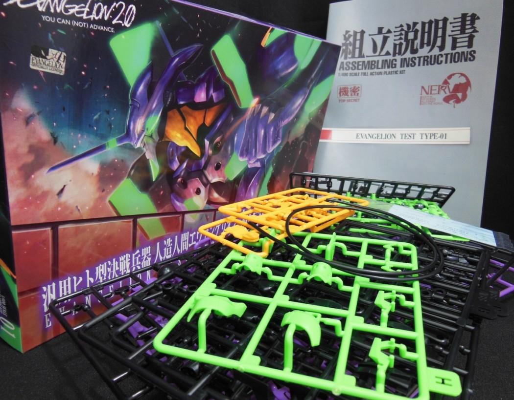 1/400 Evangelion Test Type EVA-01 by Kotobukiya (Part 1: Unbox)