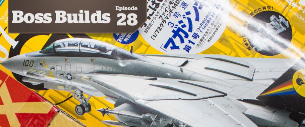 Boss Builds – Episode 28 – Model Graphix/Fine Molds F14D Collaboration Part 1!