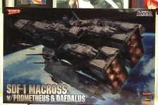 1/4000 SDF-1 Macross Cruiser Fortress w/ Prometheus & Daedalus by Hasegawa – Part One – Unboxing