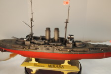 1/350 IJN BB Mikasa at The Battle of the Japan Sea by Hasegawa – Part Two – Build