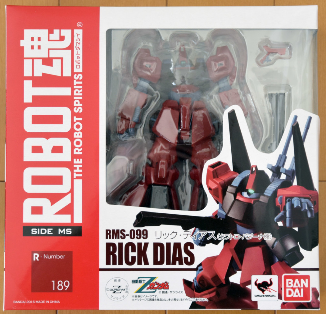 Robot Damashii Rick Dias Red Color by Bandai (Part 1: Unbox)