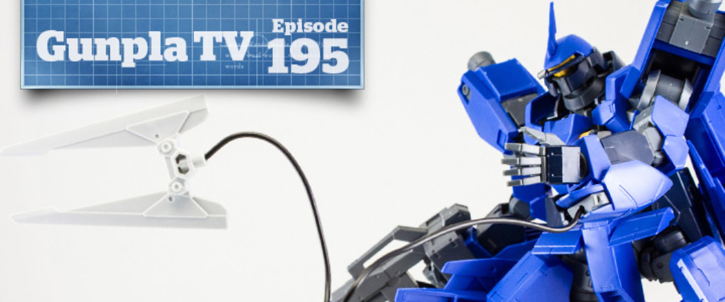Gunpla TV – Episode 195 – 1/100 McGillis' Schwalbe Graze – HG Kimaris – A character stand plate?