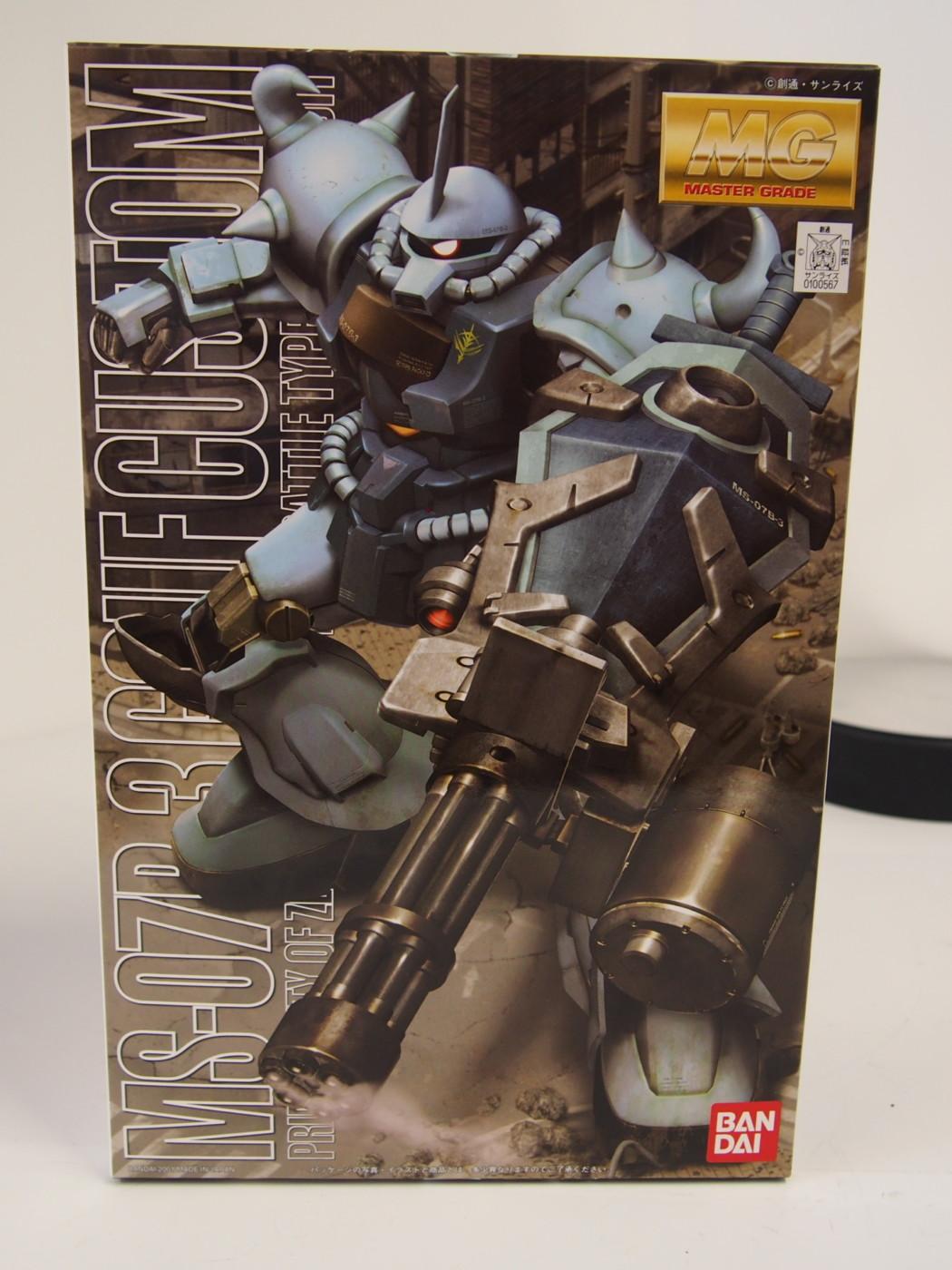 1/100 MG MS-07B-3 Gouf Custom – Part One – Unboxing