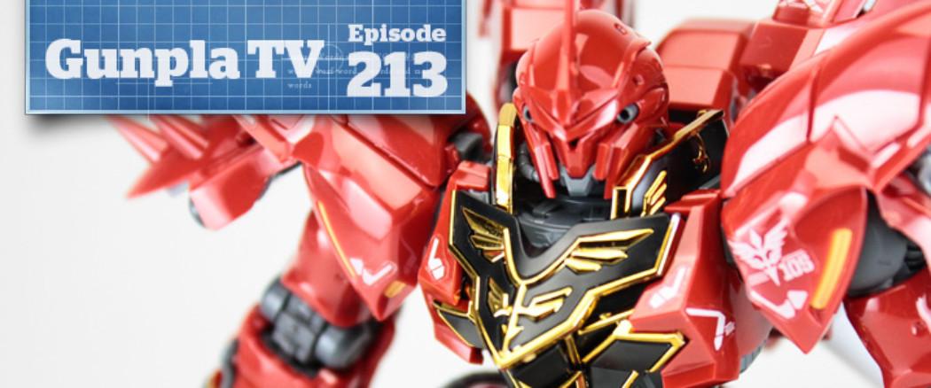 Gunpla TV – Episode 213 – RG Sinanju Review! SD Ex Standard!