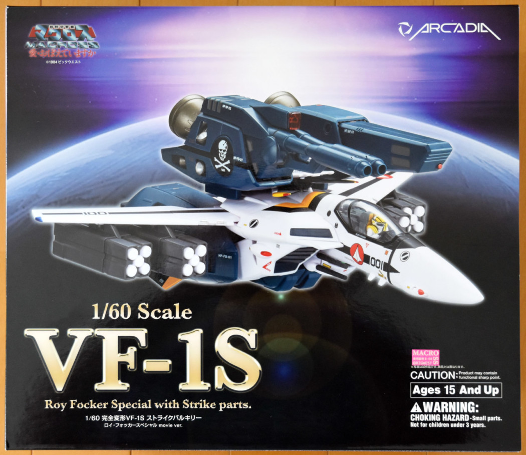 1/60 VF-1S Strike Valkyrie Roy Focker Special Movie Ver. Transformable by Arcadia (Part 1: Unbox)