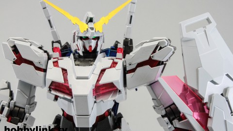 1-100 MG RX-0 Unicorn Gundam (Red or Green Frame Twin Frame Edition) Titanium Finish-4