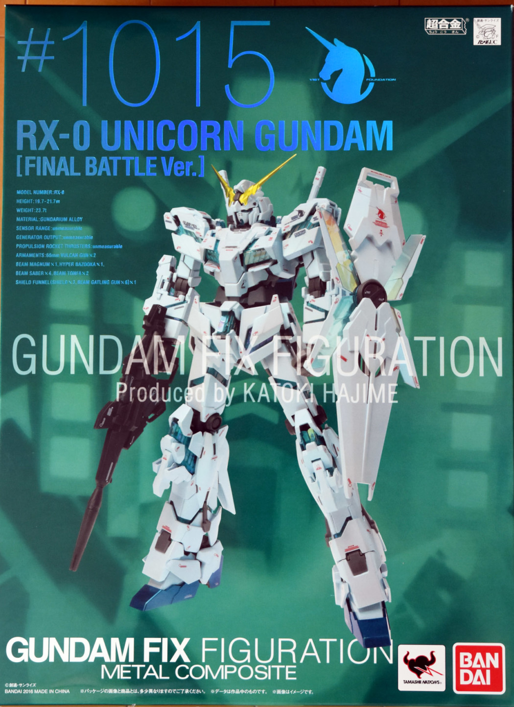 Metal Composite Unicorn Gundam Final Battle Ver. by Bandai (Part 1: Unbox)