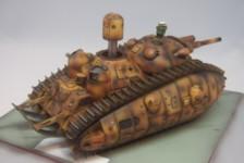 1/72 Multi-turreted Tank Akuyaku #1 Short Gun Barrel ver. by  Platz – Part Two – Build