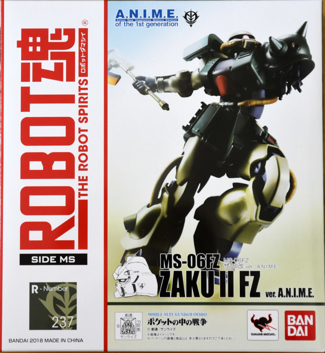 Robot Damashii MS-06FZ Zaku II Kai ver. A.N.I.M.E. by Bandai (Part 1: Unbox)