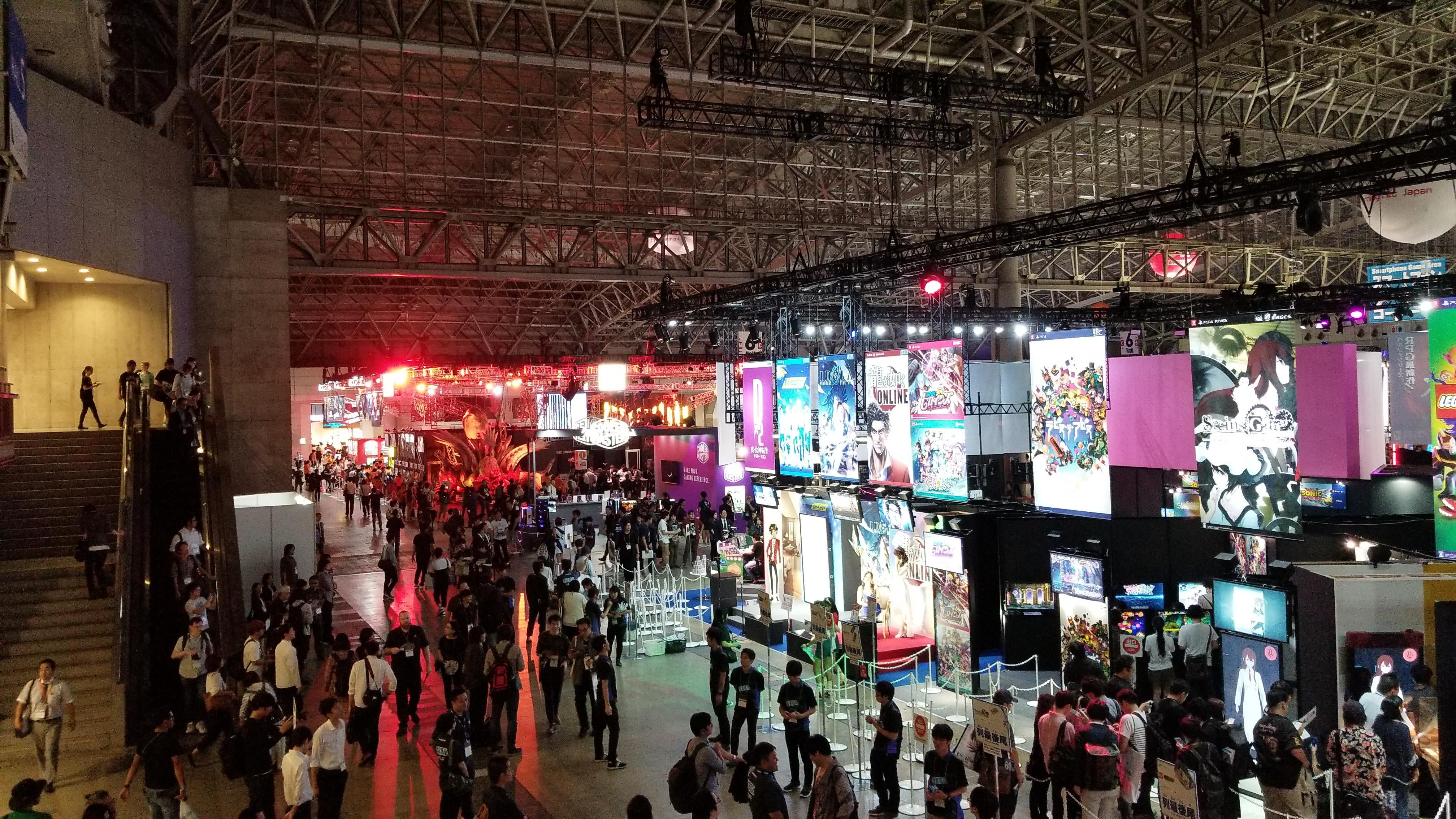 The floor at the Tokyo Game Show 2018