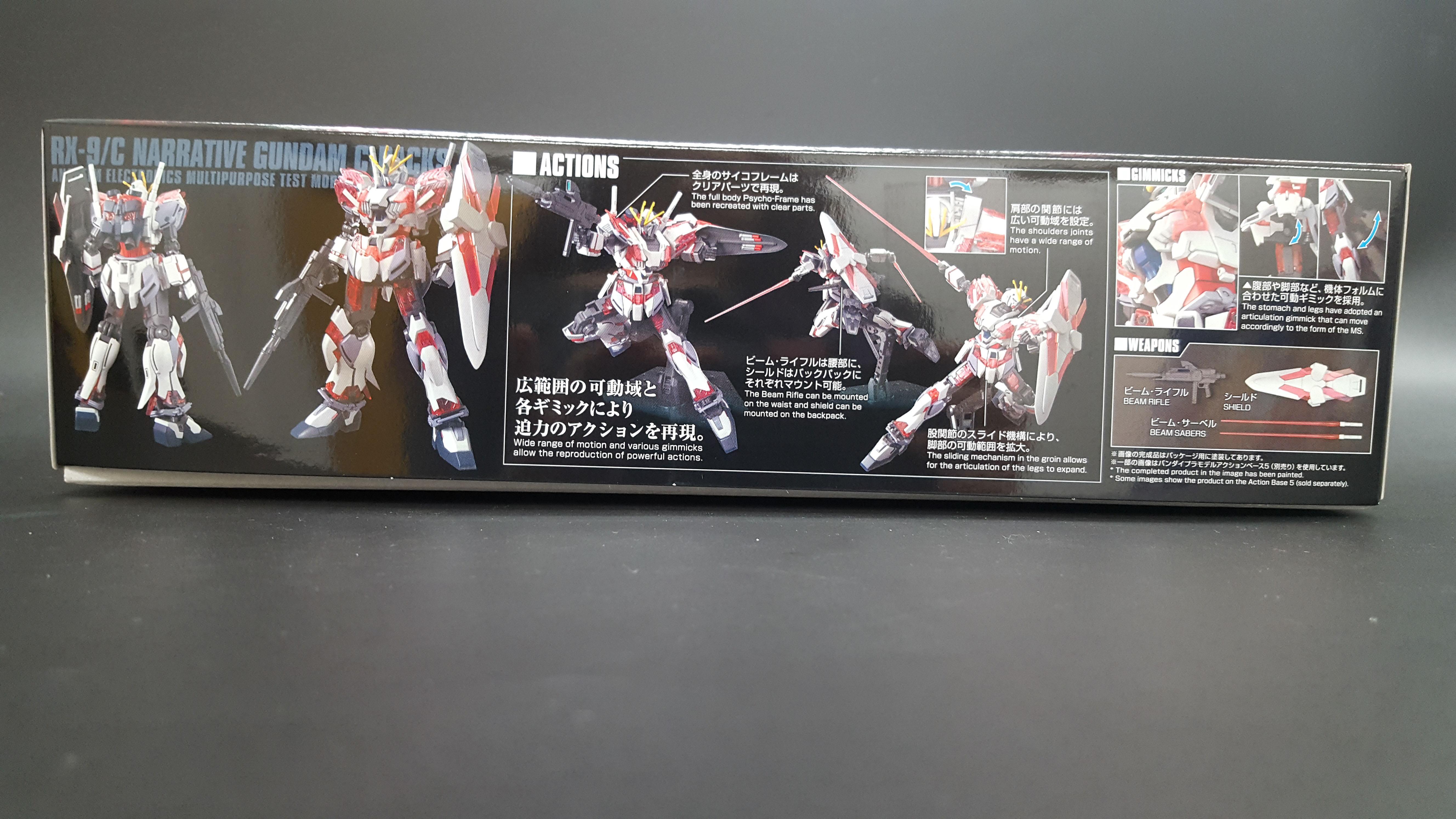 1/144 HGUC Narrative Gundam C-Packs