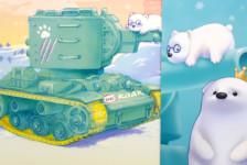 World War Toons Soviet Heavy Tank KV-2 Mint Green Version