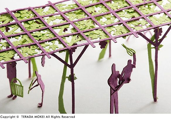 Architectural Model Accessories Series No.36 Grape Picking Ed. Light Green x Purple