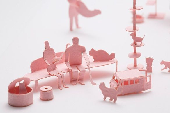 Architectural Model Accessories Series Set No.65 Cat Cafe Ed. Pink