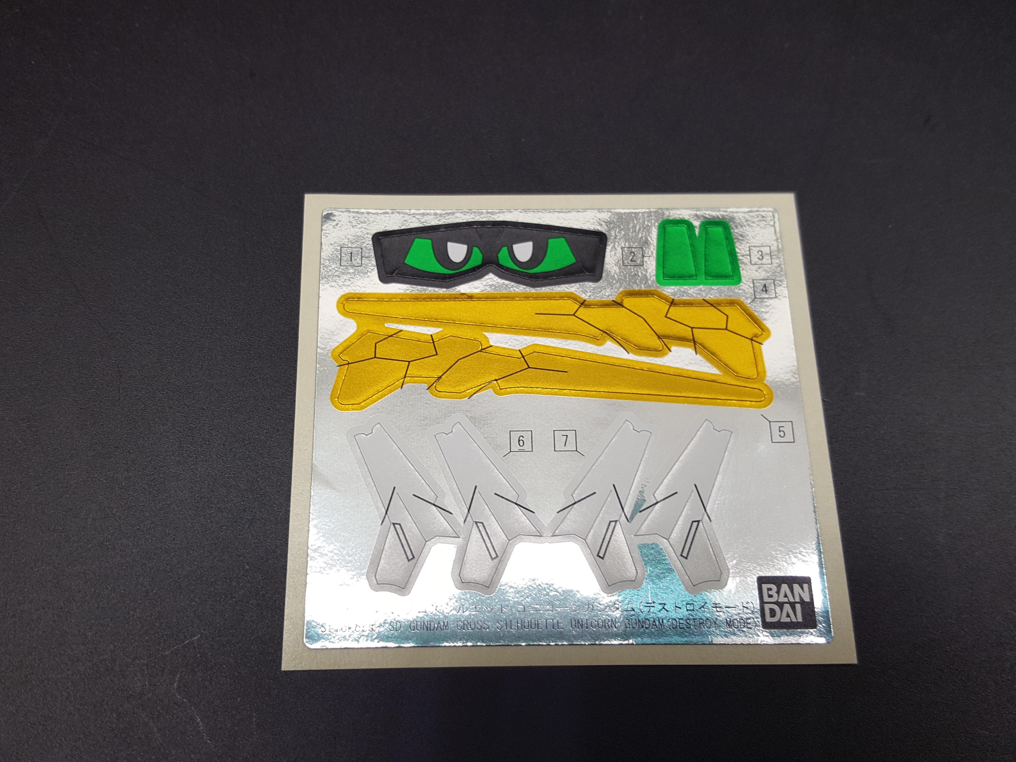 SD Gundam Cross Silhouette Unicorn Gundam (Destroy Mode)