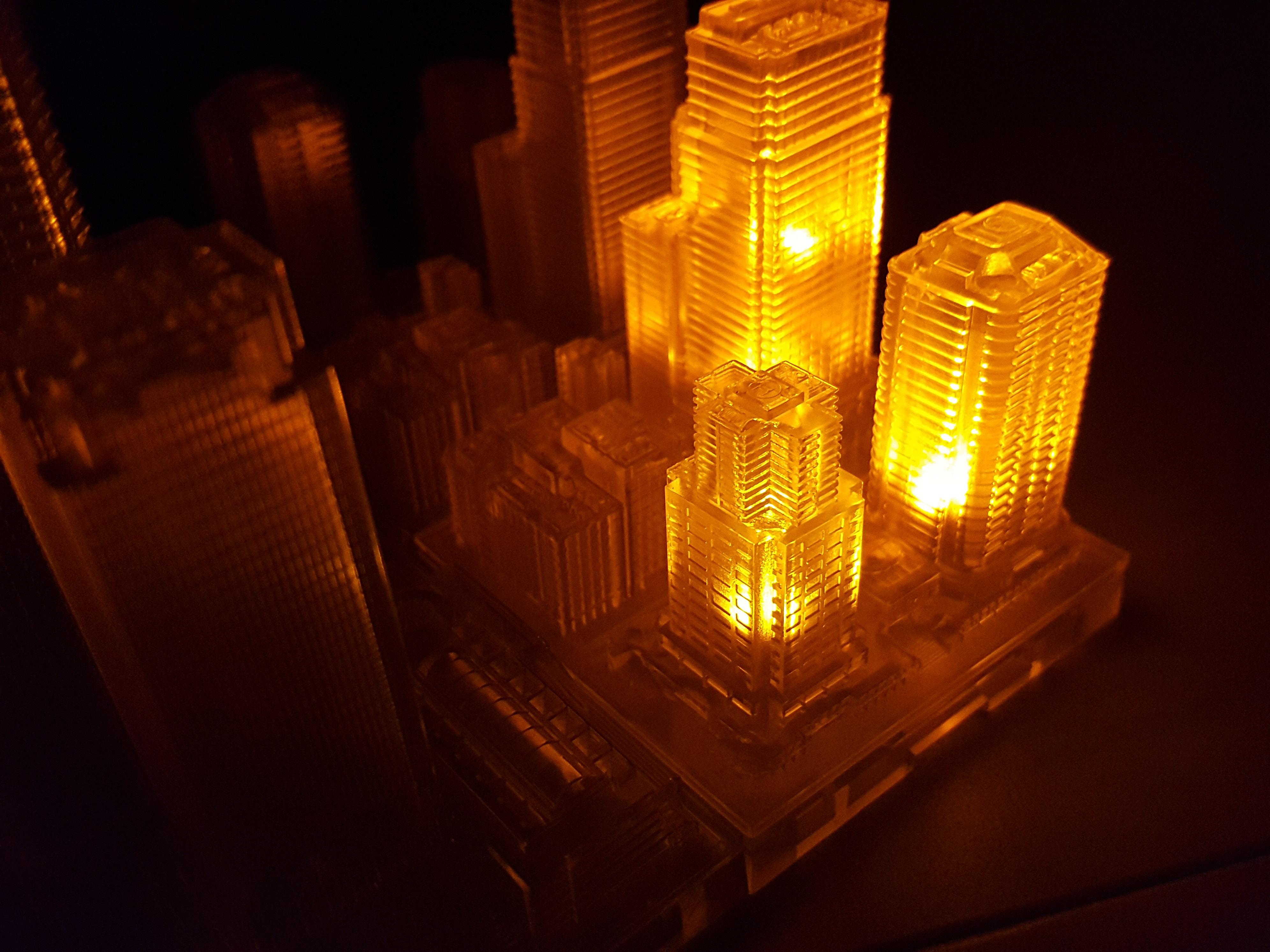 1/2500 GeoCraper Illumination Unit Yellow Set (3pcs) [HLJ Exclusive]