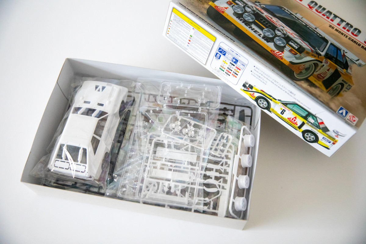 DIE CAST 1//24 White Box AUDI QUATTRO 1986 Model Car World WB124004