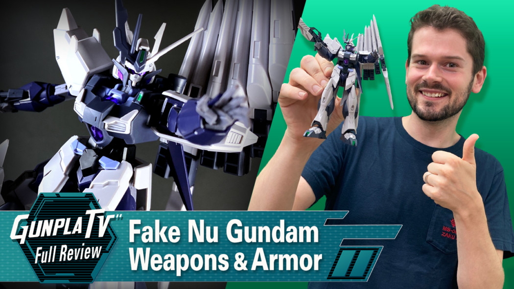 Fake Nu Gundam Weapons and Armor