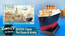 Titanic Port Scene and Airship