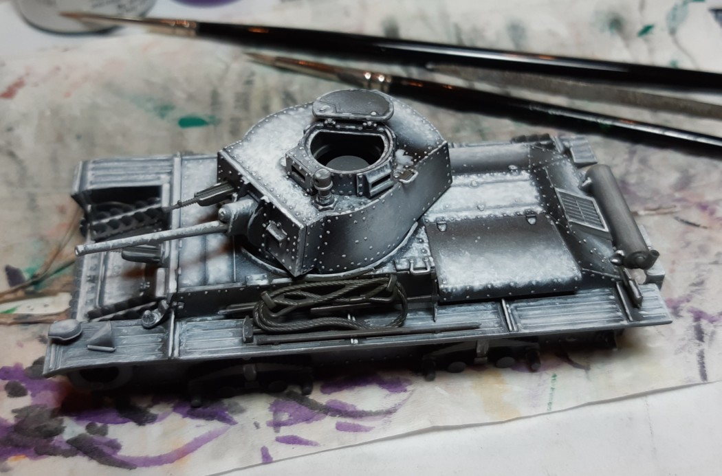 1/48 Pz Kpfw 38(t) Mini Diorama – Part 5 – Painting the Tank – Panzergrau