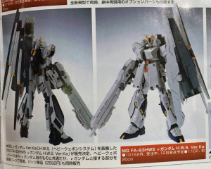 MG Heavy Weapons System Nu Gundam
